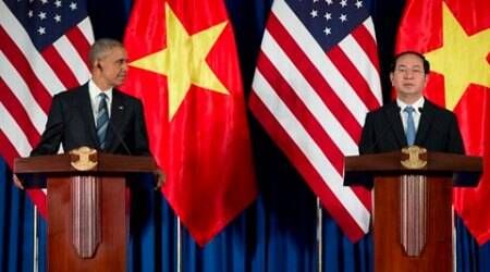 obama arms embargo, obama Vietnam visit, vietnam arms embargo, obama vietnam, US, Vietnam, US vietnam, US vietnam agreement, Barack Obama, obama in vietnam, US president Barack Obama, John Kerry, Kerry, Obama, World News