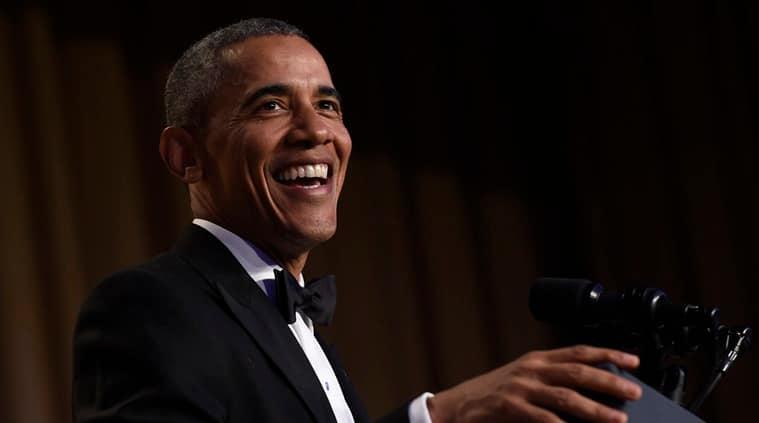 Barack Obama WHCD speech, WHCD 2016, White House Correspondents' Dinner, Barack Obama mic drop, Barack Obama WHCD mic drop, Bernie Sanders, Hillary Clinton, Republican party, Donald Trump,
