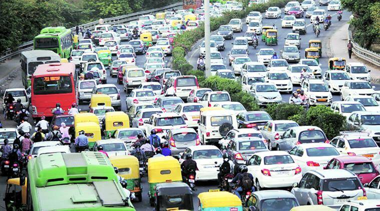 delhi, delhi traffic, traffic in delhi, DND ashram route, DND hoarding, Sarai Kale Khan, lajpat nagar flyover, indian express delhi, delhi news