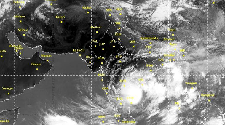 depression in bay of bengal, bay of bengal, cyclone in bay of bengal, rains in chennai, Andhra pradesh, Indian Express