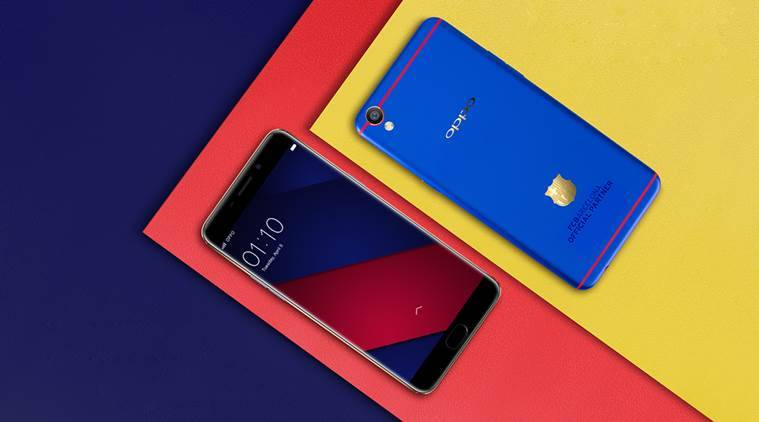 oppo f1 plus fc barcelona edition with 18k gold plated