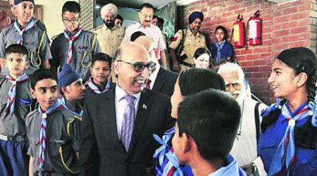 Abdul Basit, Pakistan, Pakistan high commissioner, Pak high commissioner, Pak high commissioner Abdul Basit, Abdul Basit in Chandigarh, St. Stephen's School chandigarh