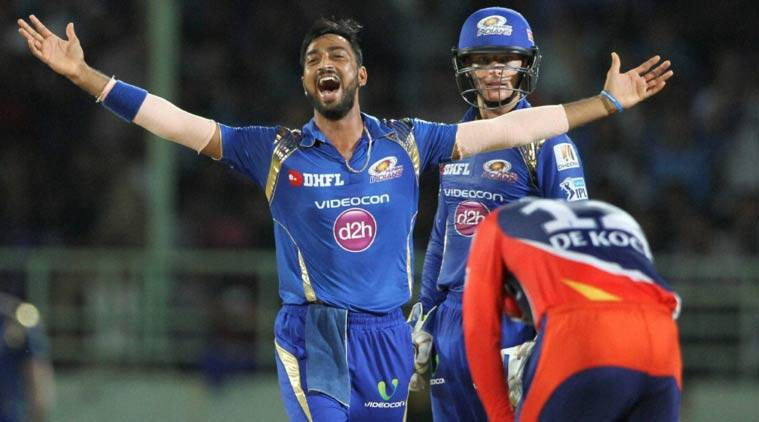 mi vs dd, mi vs dd 2016, krunal pandya, pandya, dd vs mi, ipl 2016, ipl, mumbai Indians, MI, Mumbai, indian premier league, ipl points table, ipl table, ipl points, cricket news, cricket