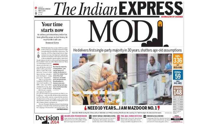 Narendra Modi, elections 2014, BJP win in 2014, Modi win in 2014, two years of Modi rule, Indian Express stories, bjp victory in 2014, two years of bjp rule, best stories from Indian express, India news