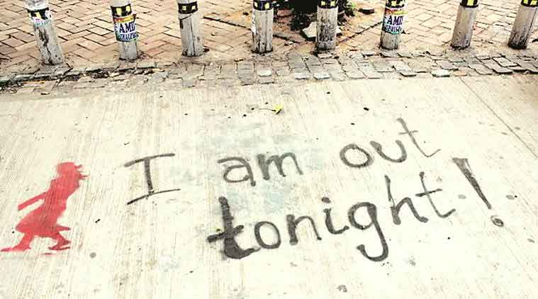 The graffiti scrawled on sidewalks, campus gates and walls in Delhi University's North Campus. (Express File Photo)