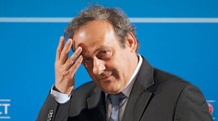 Michel platini, former UEFA president, suspended michel platini, platini returns, Saint-Etienne vs Manchester United, Europa league, sports news, indian express news