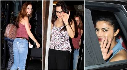 Preity Zinta parties with Sussanne Khan; Priyanka Chopra goes for a drive, see pics