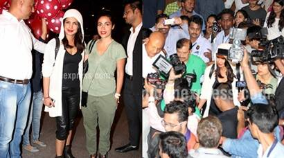 Priyanka Chopra gets a warm welcome by fans in India, see pics