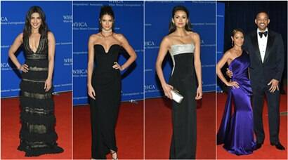 priyanka chopra, 2016 White House Correspondents' dinner, US President Barack Obama, obama, priyanka chopra obama, priyanka obama, priyanka obama pics, Kendall Jenner, Nina Dobrev, Emma Watson, Will Smith, Jared Leto, Helen Mirren, Rosario Dawson, Sophie Bush, Rachel McAdams, Karlie Kloss, Bellamy Young, Regina King, Jaimie Alexander, Katie Lowes, Gabrielle Union, Ashley Graham, Adriana Lima, Tom Hiddleston, Carrie Fisher, Neve Campbell, Douglas Brunt, Megyn Kelly, entertainment