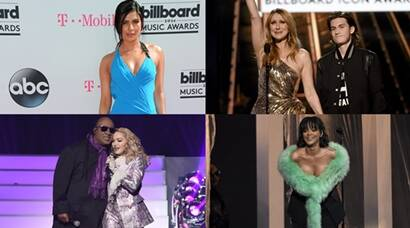 Priyanka Chopra, Ariana grande, Rihanna, Celine Dion, Billboard Music Awards, The Weeknd, Rene-Charles Angelil, Stevie Wonder, Madonna, Rihanna, Kesha, Justin Bieber, David Guetta, Wiz Khalifa, Charlie Puth, Ally Brooke, Pink, Shawn Mendes, Thomas Rhett, Lukas Graham, Kelly Rowland, Lindsey Stirling, Cole Whittle, Joe Jonas, JinJoo Lee, Jack Lawless, entertainment, priyanka chopra pics, priyanka chopr at billboard music awards