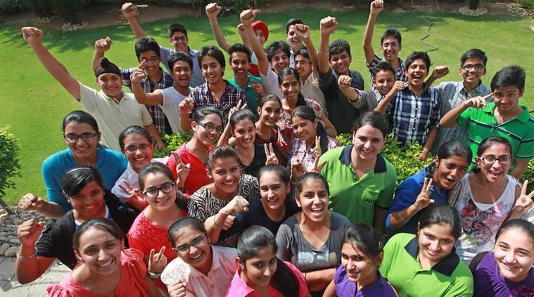 53 students of Manav Mangal Smart School scored CGPA 10 in CBSE 10th Class result, at their school in SAS Nagar on Thursday, May 30 2013. Express photo by Jasbir Malhi