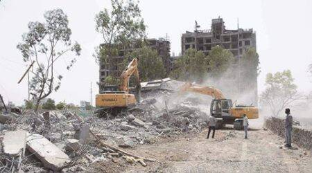 PMRDA demolishes two illegal buildings at Undri