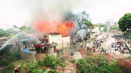 Pune fire: 25 houses gutted, 4 injured in Mangalwar Peth