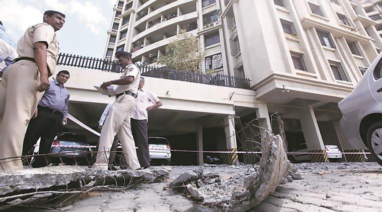 pune housing society, pune, pune news, slab falls in pune, pune builder booked, Kumar Kruti housing society, indian express pune