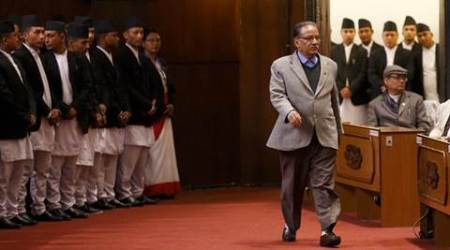 nepal, inidia, nepal moaist party, nepal CPN-MC, Pushpa Kumar Dahal, nepal Prachanda, Prachanda maoist party, indo nepal ties, india nepal relations, k p oli govt, nepal china relations, nepal news, india news, indian express, indian express editorial