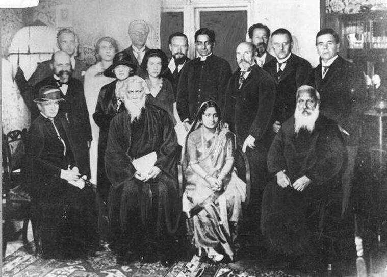 Rabindranath Tagore during his tour of the West in 1921. (Photo: oldindianphotos.in)
