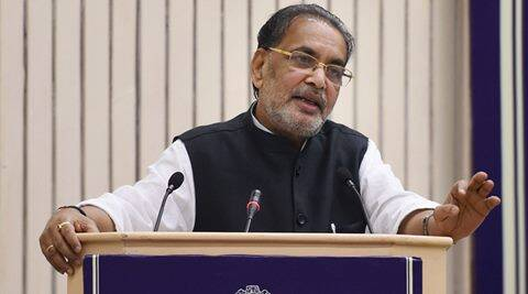 New Delhi: Minister of Agriculture Radha Mohan Singh addressing during the  conference of Food Ministers and Secretaries of Consumer Affairs , Food and Public Distribution of States/UTs-2016 on the problem of rise in prices of food items, in New Delhi on Saturday. PTI Photo by Manvender Vashist(PTI5_21_2016_000079A)