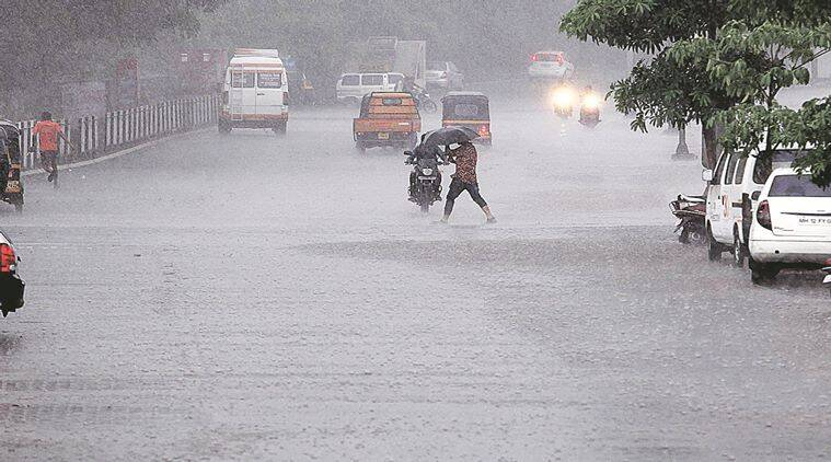 Several areas of Pune and Pimpri-Chinchwad recieved pre-monsoon showers on Wednesday briging much needed relief from soaring temperatures. Express Photo by Sandeep Daundkar,Pune,11.05.2016