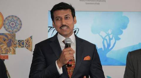 Image result for Rajyavardhan Rathore selected as India's new sports minister