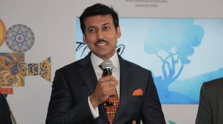 Minister of State for Information and Broadcasting Rajyavardhan Rathore (Source: Twitter/ @Ra_THORe)