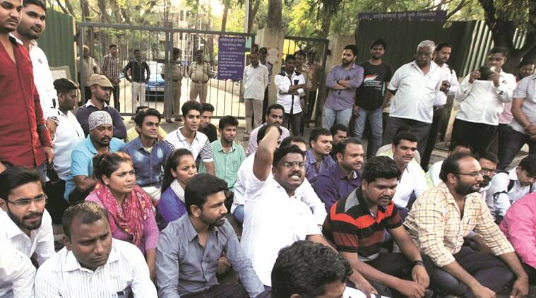Students of Ranade Institute to gather today for protesting against the anonymous threat letter carrying detonator and explosive material, which was received on Monday. An offence in this case was registered at the Deccan police station.Express Photo By Sandeep Daundkar, Pune, 10.05.2016