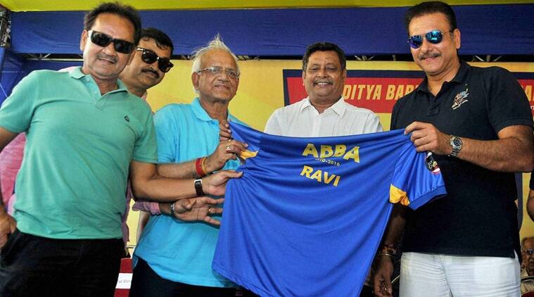 Ravi Shastri made an appearance at a promotional event in Kolkata. (Source: PTI)