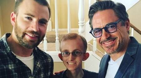 Avengers stars  Robert Downey Jr, Chris Evans and Gwyneth Paltrow surprise sick fan