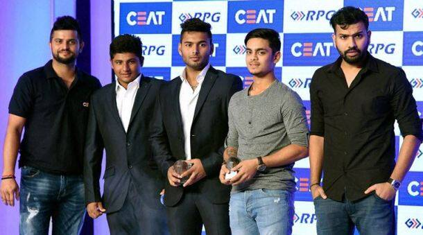 Rohit Sharma, Suresh Raina, Raina, Rohit, Sarfaraz Khan, Ishan Kishan, Rishabh Pant, Sarfaraz, Ishan, Rishabh, pant, CEAT Cricket awards, Cricket awards, Cricket