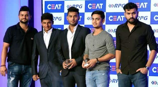 Rohit Sharma, Suresh Raina, Raina, Rohit, Sarfaraz Khan, Ishan Kishan, Rishabh Pant, Sarfaraz, Ishan, Rishabh, pant, CEAT Cricket awards, Cricket awards, Cricket