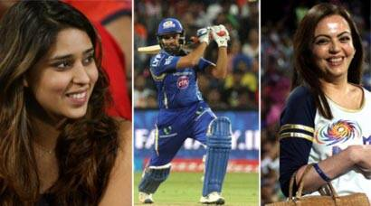 IPL 2016: Rohit Sharma's wife Ritika Sajdeh, Ambanis in attendance as MI thump RPS by eight wickets