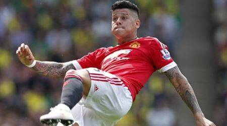 Manchester United's Marcos Rojo a doubt for FA Cupfinal
