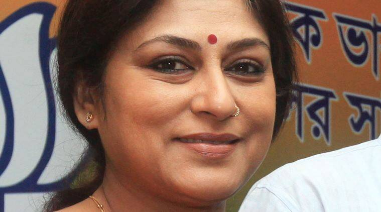 Actor-turned-BJP leader Rupa Ganguly. Express FILE photo by Partha Paul. Kolkata.09.04.15