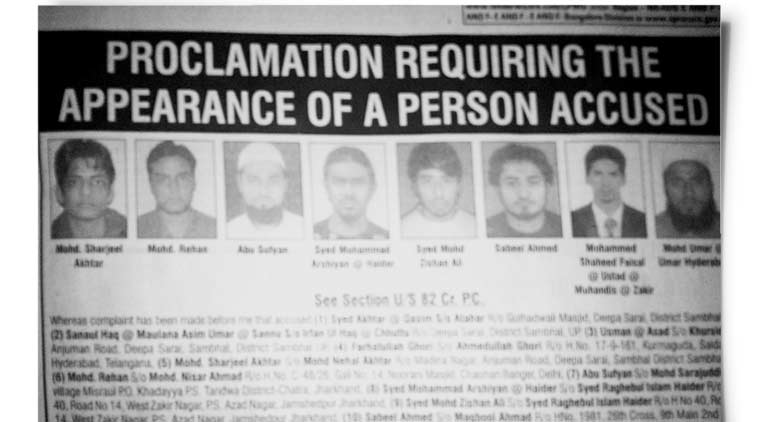 Sabeel (above, third from right in police notice) has denied terror links since UK deported him following his brother's suicide attack in 2007.