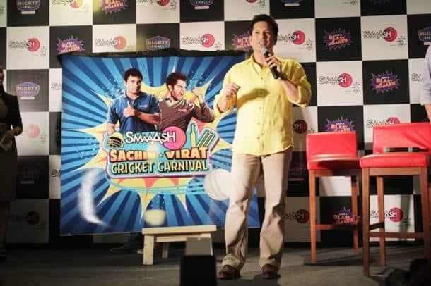 Sachin Tendulkar, Sachin, Sachin smaaash, Sachin smash, Tendulkar, Tendulkar smaash, Sachin VIrat, Sachin Virat Cricket Carnival, Cricket Carnival, Cricket