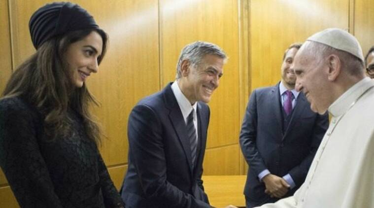 Pope francis, George Clooney, Richard Gere, Salma Hayek, Olive medal of peace, Scholas Occurrentes foundation, Entertainment news