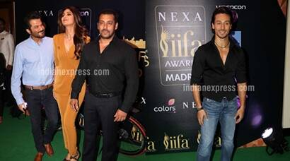 Salman Khan, Tiger Shroff, Anil Kapoor, Shilpa Shetty at IIFA 2016 press conference
