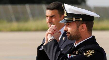 Detained in 2012, accused Italian marine Salvatore Girone arrives home from India