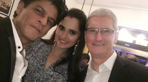 Sania Mirza meets Apple CEO Tim Cook, thanks Shah Rukh Khan  for being a 'good host'