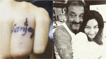 Maanyata Dutt gets Sanjay Dutt's name tattooed on her finger