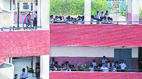 Chandigarh, chandigarh schools, Chandigarh government school, chandigarh heat, heatwave in Chandigarh, Classroom shortage in chandigarh schools, Government schools, RTE act, chandigarh news