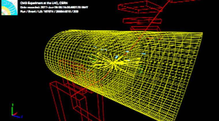 """A third of this information is """"data from proton collisions at 7 TeV (Transient Earth Voltage), making up half the data collected at the LHC by the CMS detector in 2011"""", a CERN statement said."""