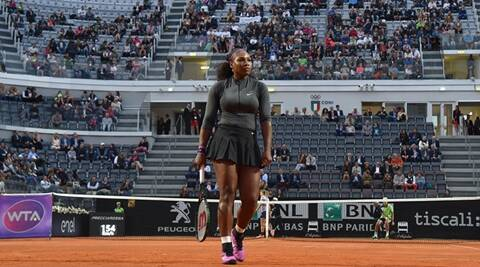 Serena Williams returns to clay court with strong win