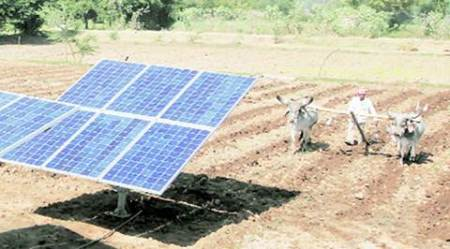 solar power, cooperative, farmers, gujarat farmers, solar pump cooperative, Anandiben Patel, gujarat news
