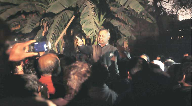 AAP leader Somnath Bharti claimed he never conducted a 'raid' on Khirki Extension. (Express Photo)
