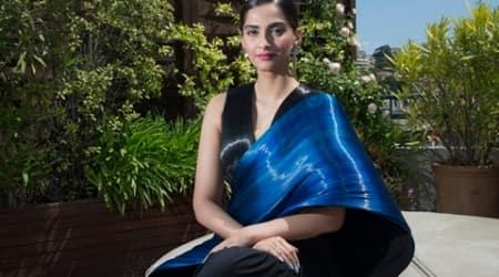 Sonam Kapoor looks elegant in a Rimzim Dadu sari atCannes