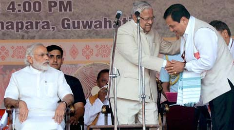 Sarbananda Sonowal, Swearing in ceremony, Assam CM, Assam news, BJP, BJP news, Narendra Modi Assam, Amit Shah Assam, Oaths, Arunachal Pradesh Chief Minister, Sikkim Chief Minister, BJP Chief Ministers, BJP leaders, BJP Assam, Assam swearing in, Assam ministers, Asom Gana Parishad, AGP, Bodo Peoples Front, BPF