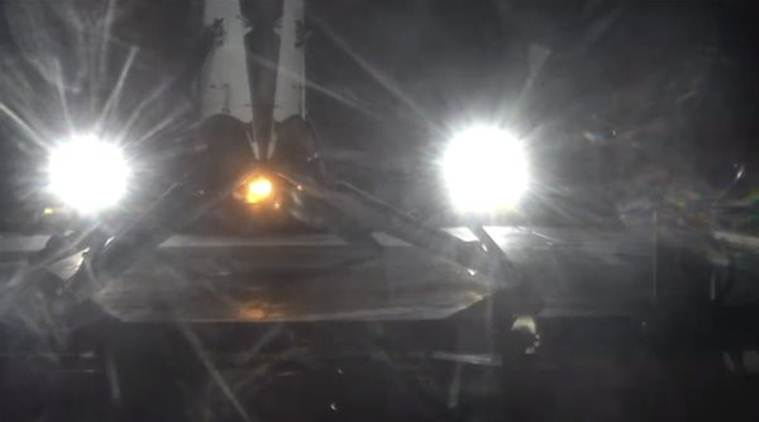 SpaceX successfully lands its rocket on a floating droneship after satellite launch for the second time (Source: SpaceX/Twitter)