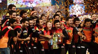 Sunrisers Hyderabad celebrate maiden IPL title