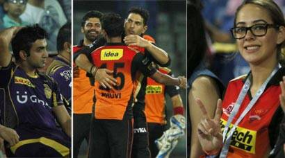 SRH vs KKR: Hazel Keech in attendance, Yuvraj Singh stars for Hyderabad at Kotla