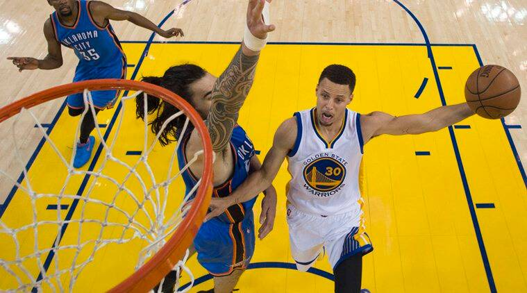 NBA, Western Conference finals Game Two, Western Conference finals, Stephen Curry, Golden State vs Oklahoma City, Oklahoma City vs Golden State, Curry, Stephen Curry basket, Stephen Curry score, Curry score, NBA, Basketball